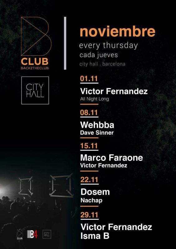 b club noviembre