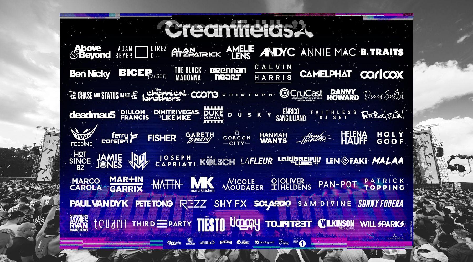 Creamfields UK 2019 anuncia su cartel casi al completo