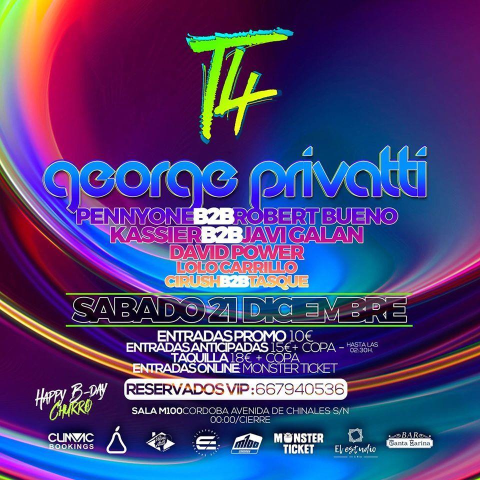 Line Up George Privatti en Córdoba